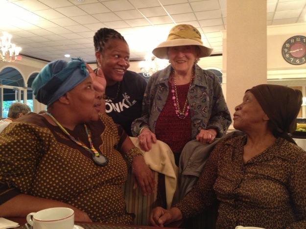 Clockwise -South Africans Thelma Nkone, Vivienne Budaza, Nancy McCulloch of Ingleside, and Felicia Mfamana